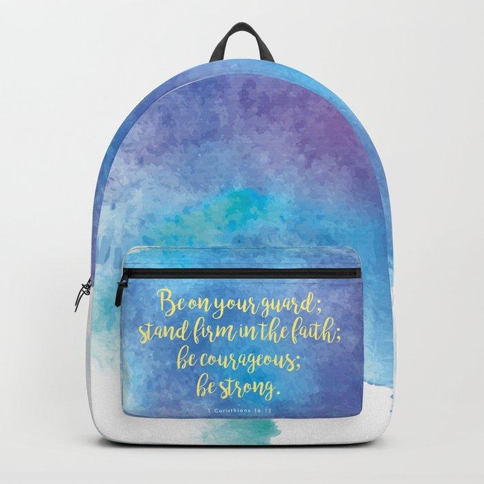 Inspiring Bible Verse, Be Courageous Backpack