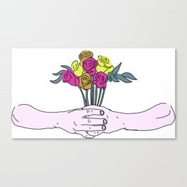 Flower Gift. Canvas Print