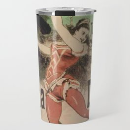 Hippodrome Leona Dare 1883 By Jules Cheret   Reproduction Art Nouveau Travel Mug