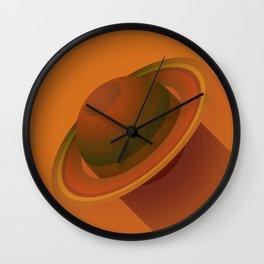 Flat Planet - #2 Saturn Wall Clock