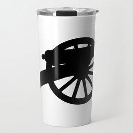 American Civil War Cannon Silhouette Travel Mug