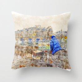 Autumn Paris Throw Pillow