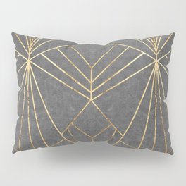Art Deco in Gold & Grey - Large Scale Pillow Sham