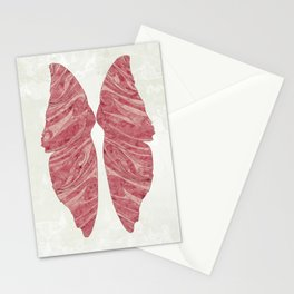 Abstract Butterfly Wings Design Stationery Cards