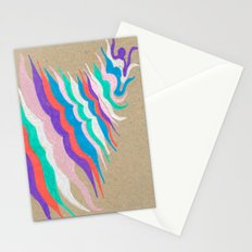 rainbow waves Stationery Cards