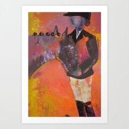 Abstract Dressage Art Print