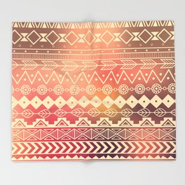 Aztec pattern 01 Throw Blanket