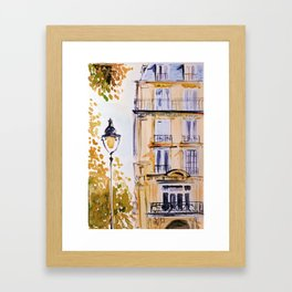 Paris autumn architecture Framed Art Print