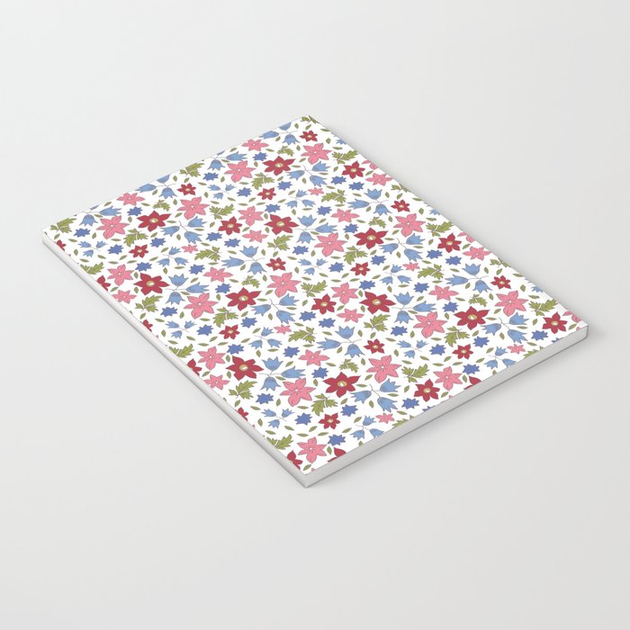 Tossed star flowers Notebook