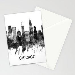 Chicago Illinois Skyline BW Stationery Cards