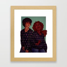 Death sibling with their matching sweaters Framed Art Print