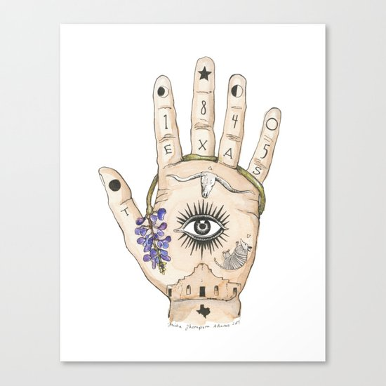 Texas Palmistry Canvas Print