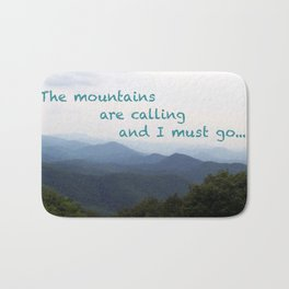 The Mountains are Calling... Bath Mat