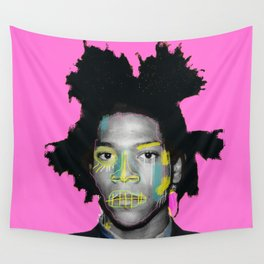 pinky basquiat Wall Tapestry