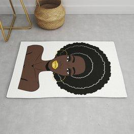 Afrowoman - Afro woman - Black girl - Black queen Rug