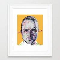 jesse pinkman Framed Art Prints featuring Jesse Pinkman by Nadyia Duff