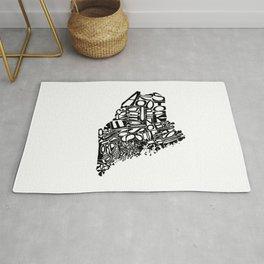 Typographic Maine Rug