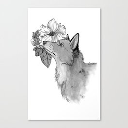 Flower Fox Canvas Print