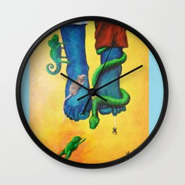Dipping My Feet In Wall Clock