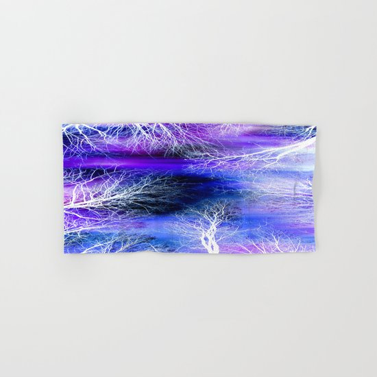 Midnight Trees Purple Blue Hand & Bath Towel