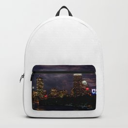 Boston at night Backpack