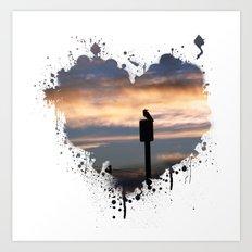 Bird Heart Art Print