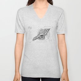 Geometry of a Charonia tritonis Unisex V-Neck