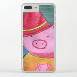 Fancy Pig Clear iPhone Case