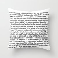 nicki Throw Pillows featuring Nicki Monster by Shelby Thompson