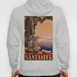 1900 Santander Spain Travel Advertisement Poster Hoody