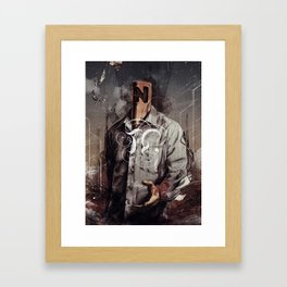 Negative Poles Framed Art Print