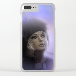 fashiondoll on pastell background Clear iPhone Case