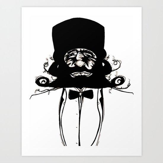 """Mustachat"" Art Print"