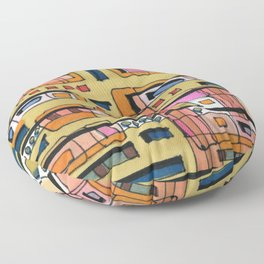 Urban Nature Building Architectural Illustration 62 Floor Pillow