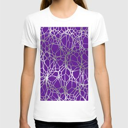 Pattern and Light purple silver T-shirt