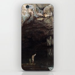 Gustave Courbet The Cave of the Loue iPhone Skin