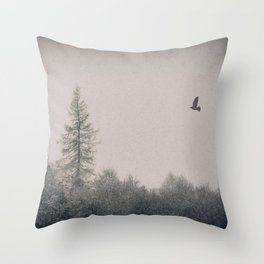 A Winter's Flight by Cat Burton Throw Pillow