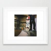 skate Framed Art Prints featuring Skate by Sarah Rose