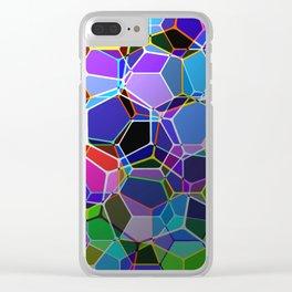 Geometric Genetics - Metallic, abstract, geometric pattern Clear iPhone Case