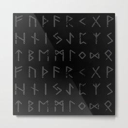 Futhark full print (viking runes) Metal Print