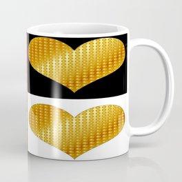 Golden hearts-Collage Coffee Mug