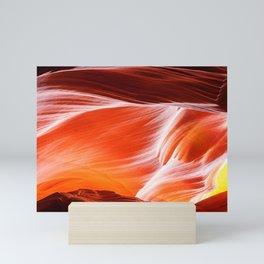 Sandstone abstract textures at Antelope Canyon Mini Art Print