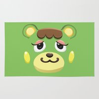 animal crossing Area & Throw Rugs featuring Animal Crossing Charlise by ZiggyPasta
