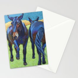 Mules Head to Tail Stationery Cards