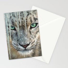 Snow Leopard - Blue Ice Stationery Cards