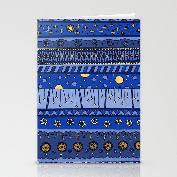 Yzor pattern 010 night Stationery Cards