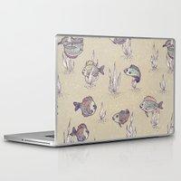 swimming Laptop & iPad Skins featuring swimming by Lidija Paradinović Nagulov - Celandine