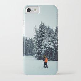 boy skiing iPhone Case