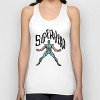 superhero Tank Tops featuring SuperHero by Logan_J
