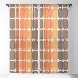 Golden Capsule Sheer Curtain